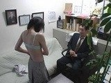 Old Dirty Boss Seduced Newbie Teen At His Office