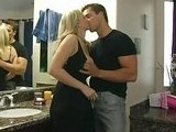 Lustful Blonde Wife Cheating With Her Husbands Friend