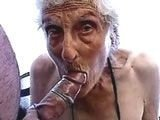 Slutty Granny got Fucked and Took a Facial