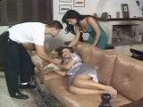 Wife Helps me to Punish Our Sleeping Babysitter