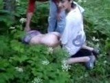 Russian Girl Gets AssFucked By Her Classmates In A Park